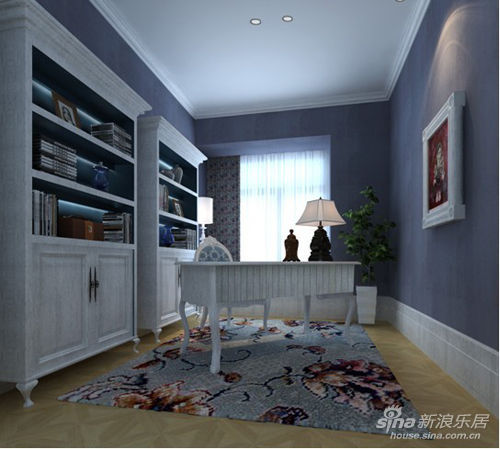 白色的欧式家具更是将地中海风格惯穿到底,朦胧的灯带既节省资源又