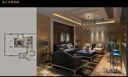 新古典风格地下室效果图图片